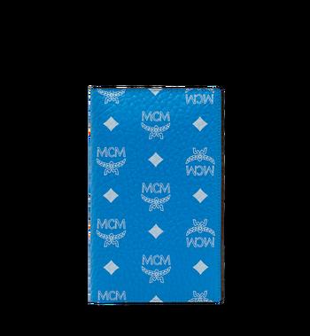 MCM Passport Holder in White Logo Visetos MYV9SWA10HI001 AlternateView