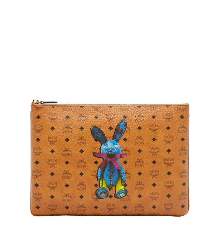 MCM Rabbit Crossbody Pouch in Visetos Alternate View