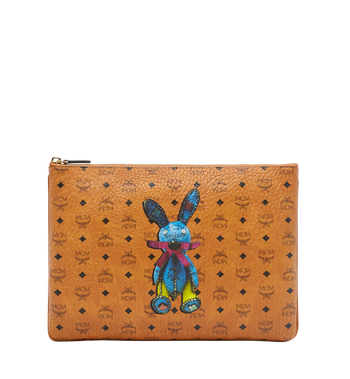 MCM Rabbit Crossbody Pouch in Visetos MYZ6AXL81CO001 AlternateView