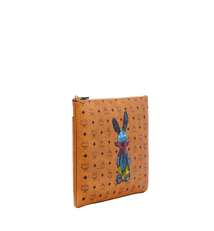 MCM Rabbit Crossbody Pouch in Visetos MYZ6AXL81CO001 AlternateView2