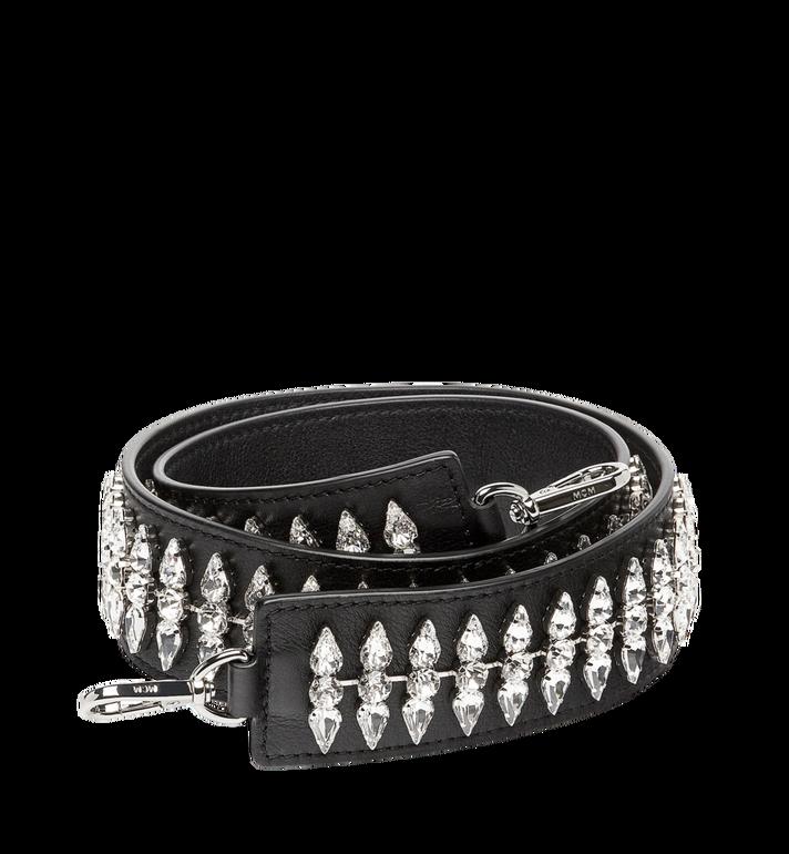 MCM Milla Crystal Shoulder Strap in Leather MYZ7AMA06BK001 AlternateView