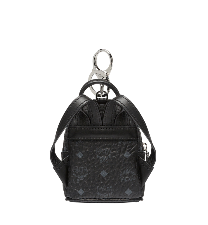 MCM Backpack Charm in Visetos MYZ7AVE26BK001 AlternateView4