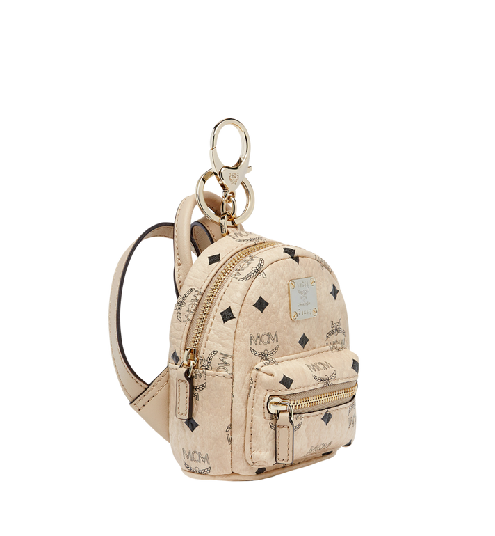 MCM Backpack Charm in Visetos MYZ7AVE26IG001 AlternateView2