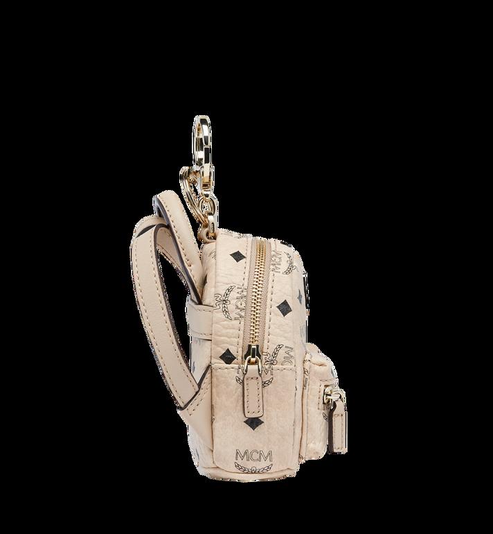 MCM Backpack Charm in Visetos Alternate View 3
