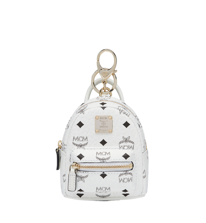 MCM Backpack Charm in Visetos MYZ7AVE26WT001 AlternateView