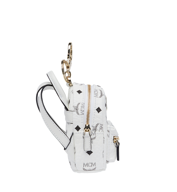 MCM Backpack Charm in Visetos MYZ7AVE26WT001 AlternateView3