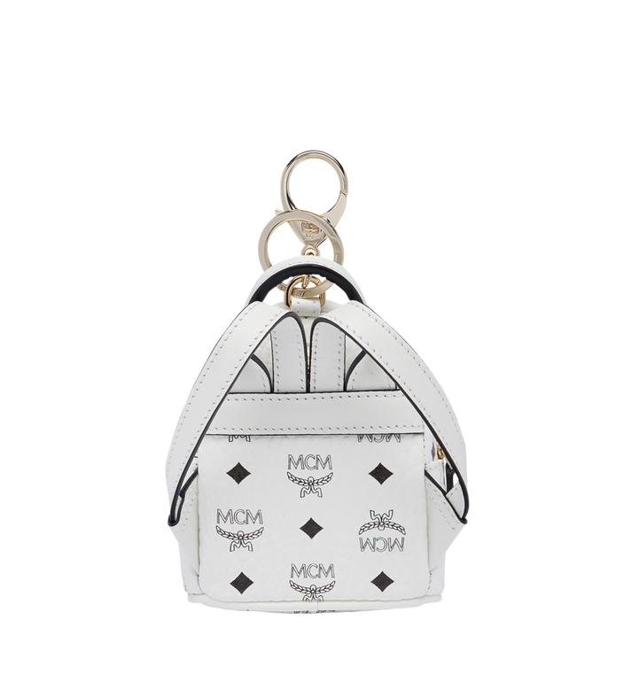 MCM Backpack Charm in Visetos MYZ7AVE26WT001 AlternateView4