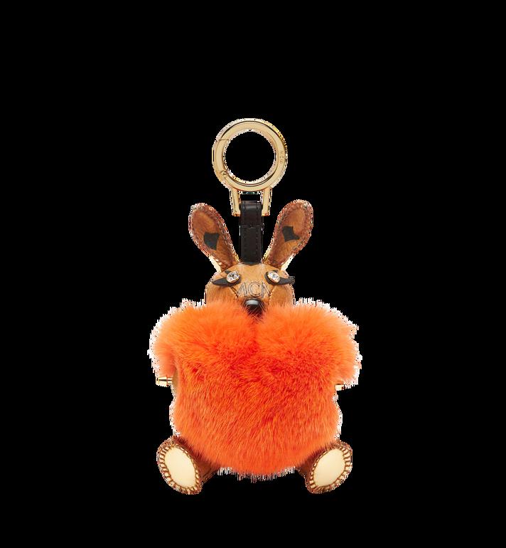 MCM Rabbit Fur Heart Animal Charm MYZ7AXL04OD001 AlternateView