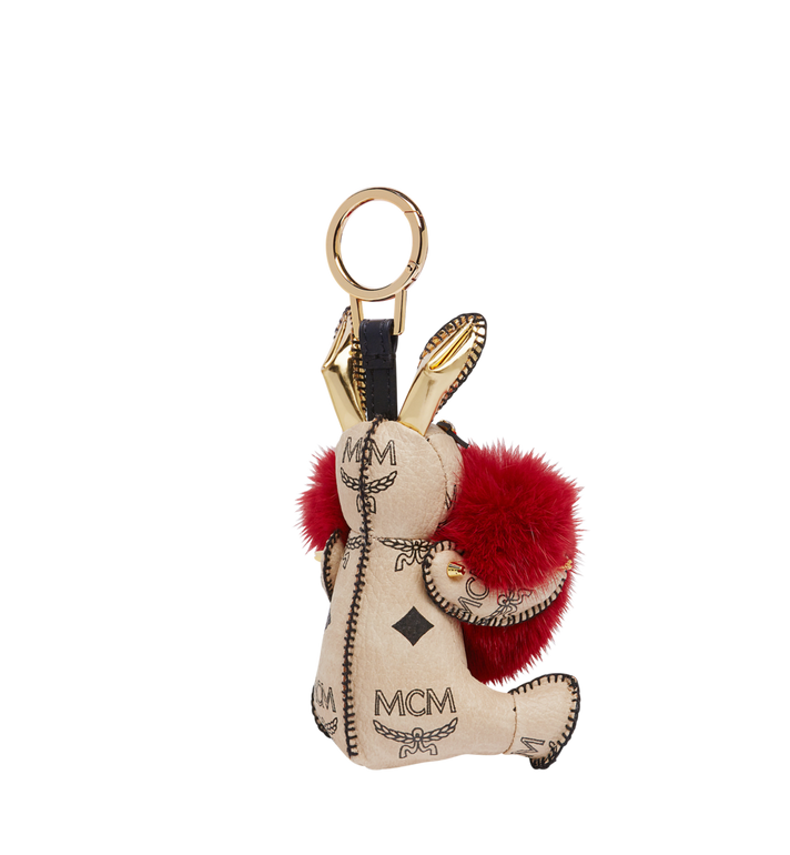 MCM Rabbit Fur Heart Animal Charm MYZ7AXL04RY001 AlternateView2