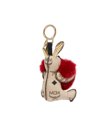 MCM Rabbit Fur Heart Animal Charm Alternate View 2