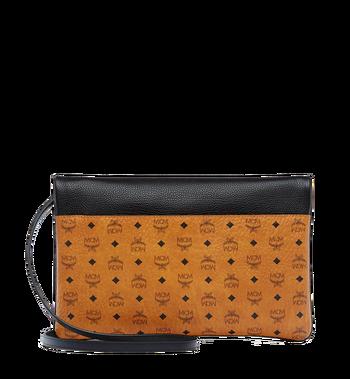 MCM Corina Crossbody Clutch in Visetos Block Leather Alternate View 3