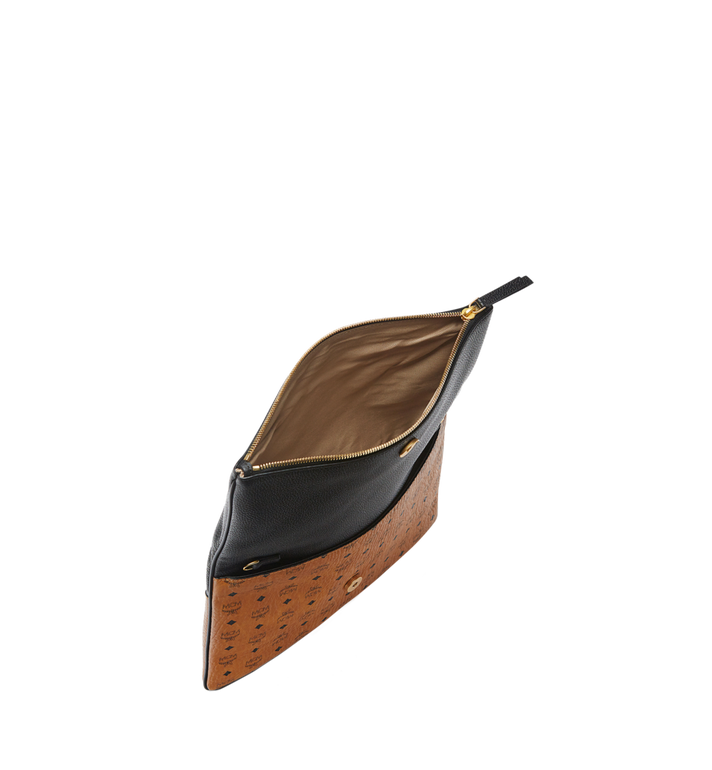 MCM Corina Crossbody Clutch in Visetos Block Leather Alternate View 4