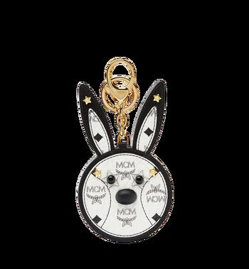 MCM Rabbit Mirror Charm in Visetos MYZ7SXA20WT001 AlternateView