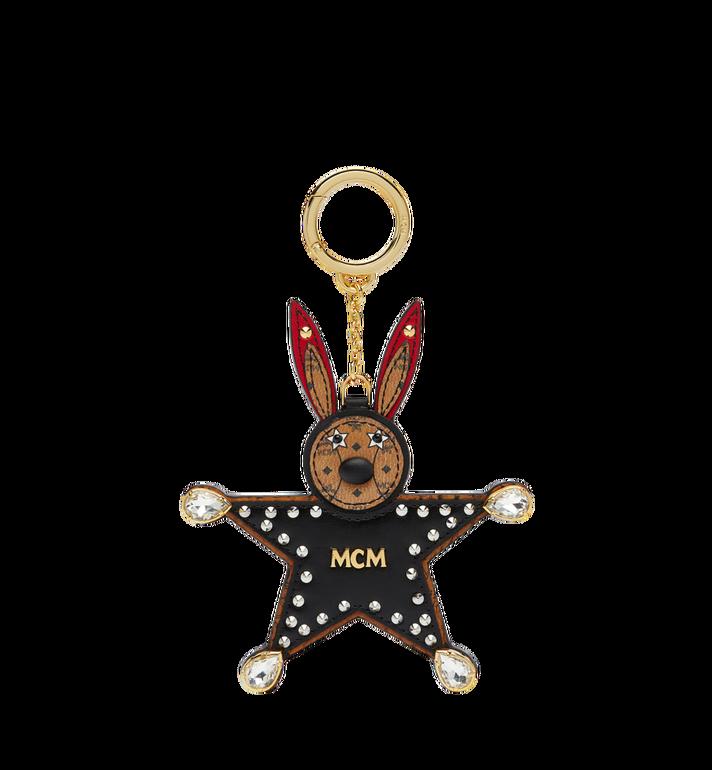 MCM Star Rabbit Charm in Visetos MYZ7SXA23BK001 AlternateView af83873d5a586