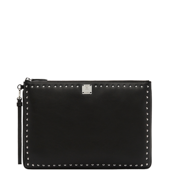 MCM Berlin Wristlet Zip Pouch in Studded Outline Alternate View