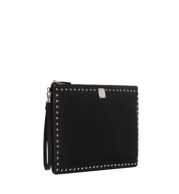 MCM Berlin Wristlet Zip Pouch in Studded Outline Alternate View 2