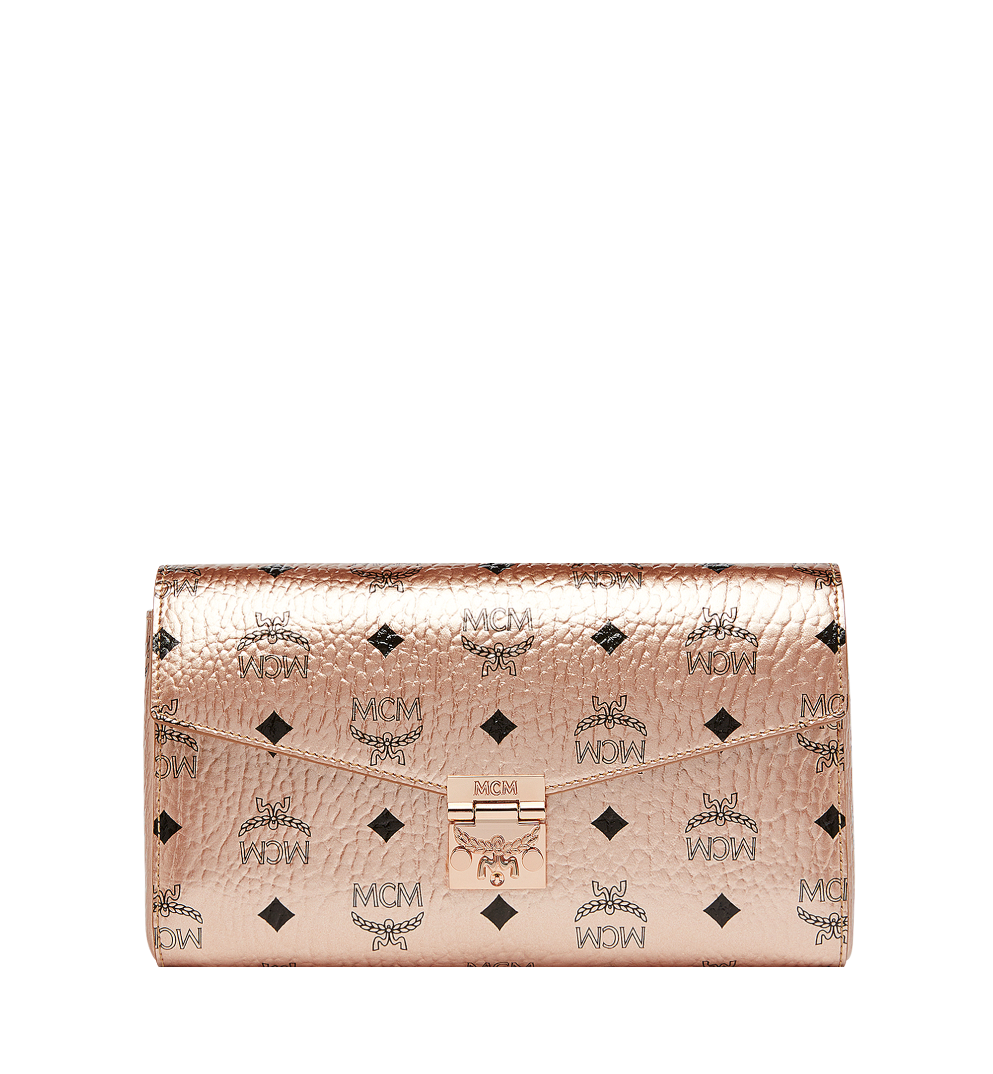 58a038dbc Medium Millie Flap Crossbody in Visetos Champagne Gold | MCM