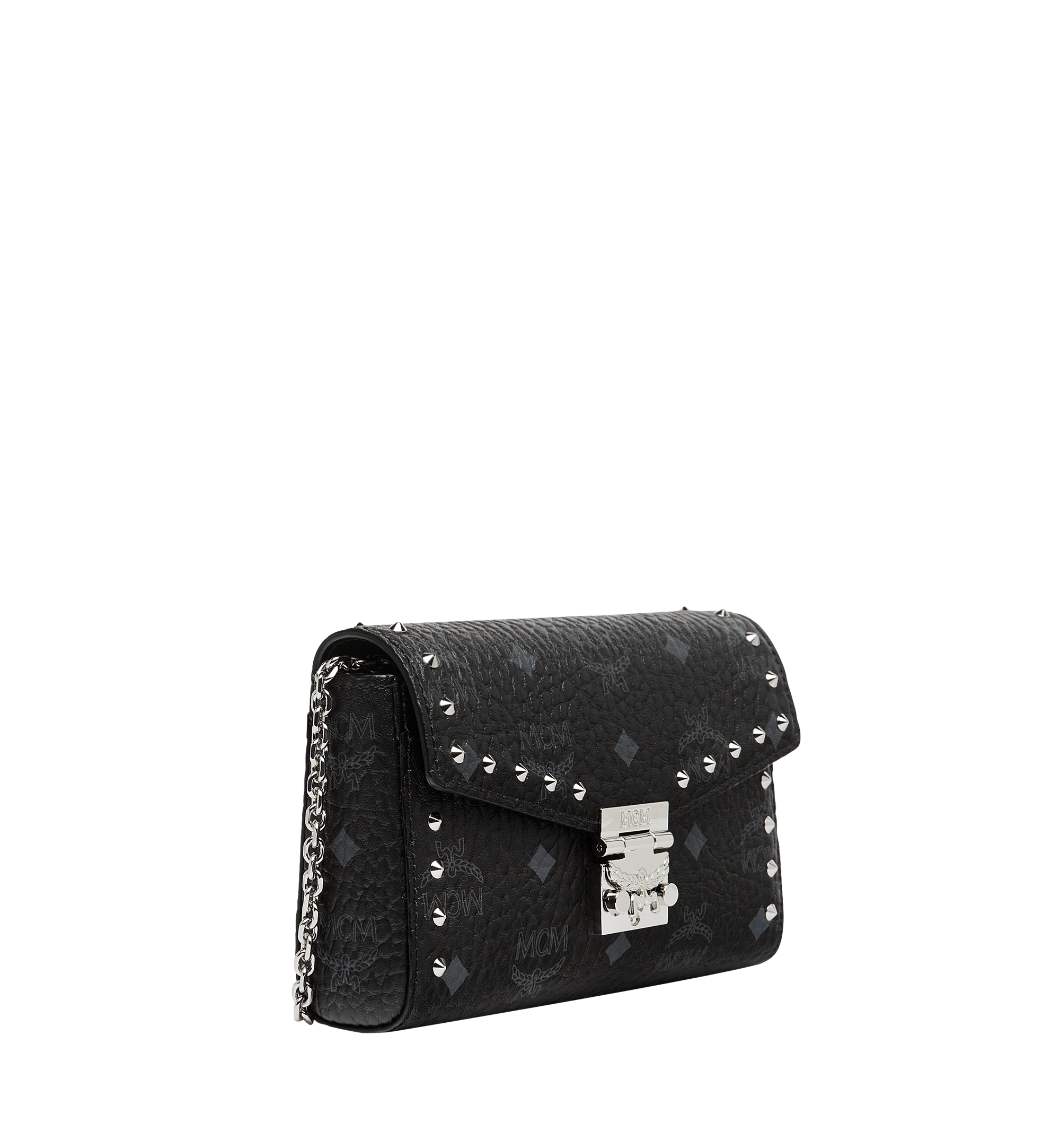 MCM Millie Flap Crossbody in Studded Outline Visetos Black MYZ8AME25BK001 Alternate View 2
