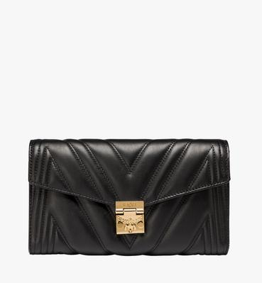 Millie Flap Crossbody in Quilted Leather