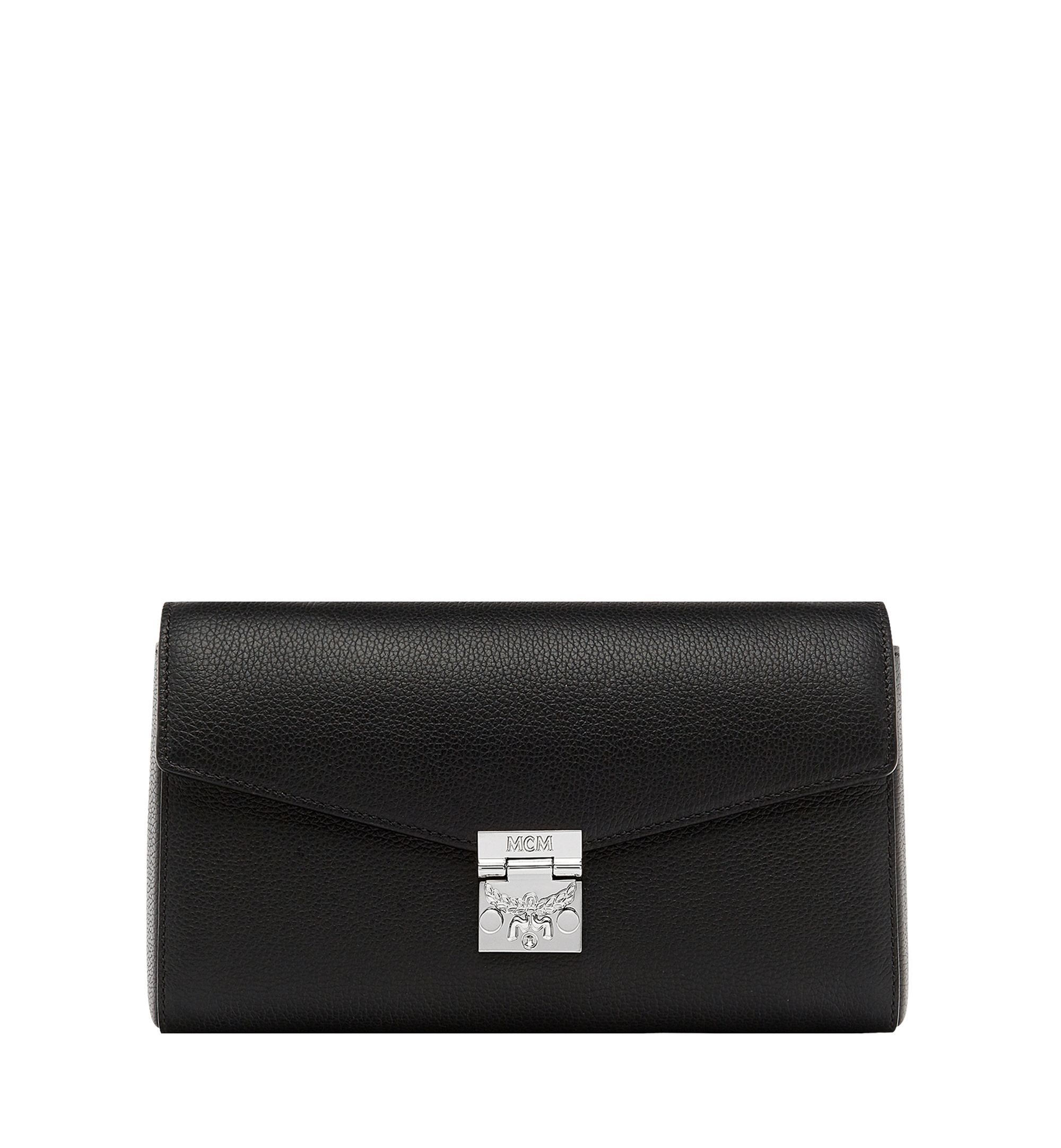 MCM Millie Flap Crossbody in Grained Leather Black MYZ8AME50BK001 Alternate View 1