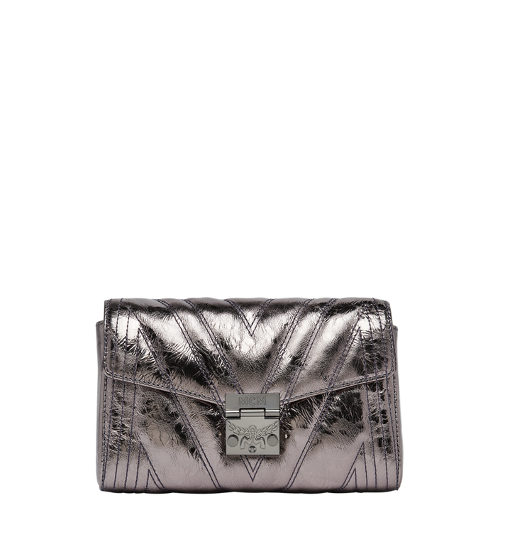 MCM Millie Flap Crossbody in Quilted Metallic Leather MYZ8AME51SB001 AlternateView