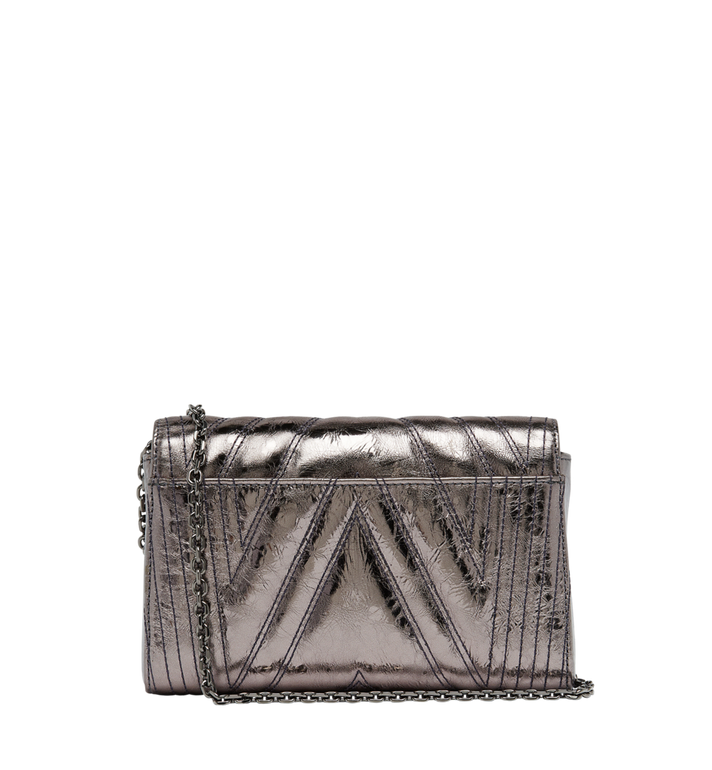 MCM Millie Flap Crossbody in Quilted Metallic Leather MYZ8AME51SB001 AlternateView4