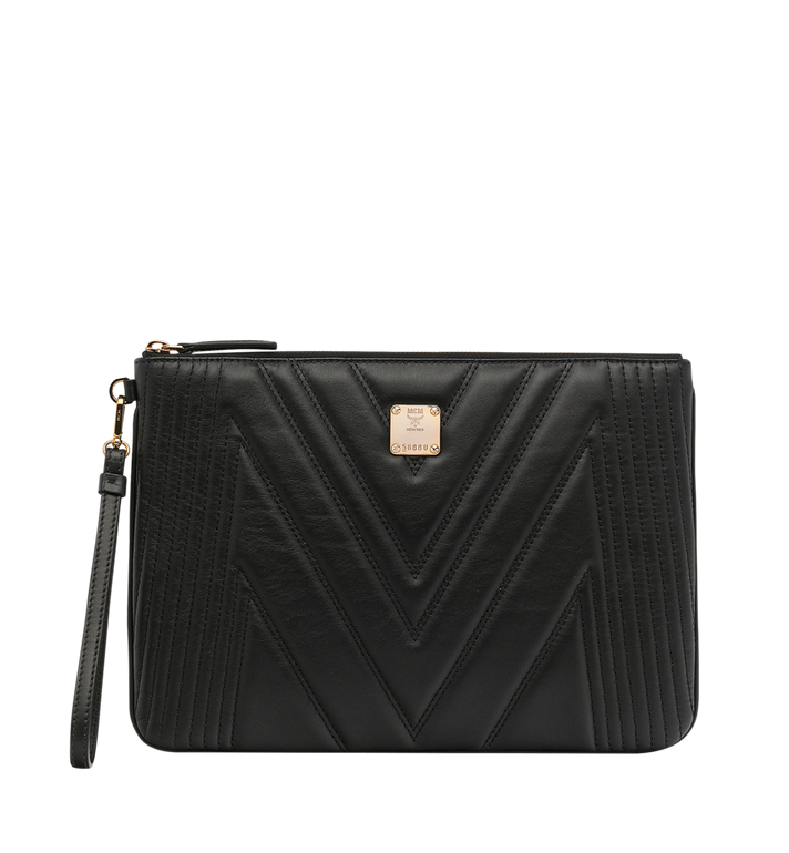 MCM Patricia Pouch in Quilted Leather MYZ8APA15BK001 AlternateView
