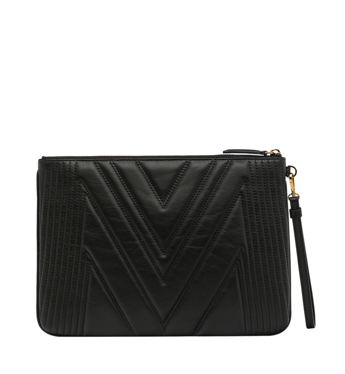 MCM Patricia Pouch in Quilted Leather MYZ8APA15BK001 AlternateView3