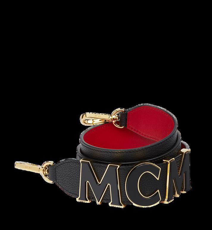 MCM MCM Letter Shoulder Strap in Grained Leather MYZ8APA92BK001 AlternateView