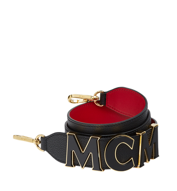 MCM MCM Letter Shoulder Strap in Grained Leather Alternate View