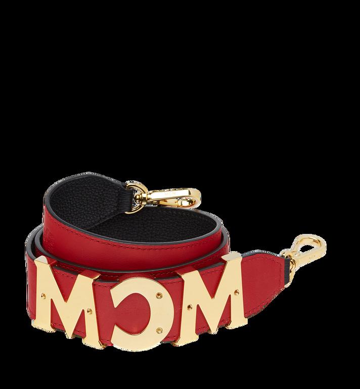 MCM MCM Letter Shoulder Strap in Grained Leather MYZ8APA92BK001 AlternateView2