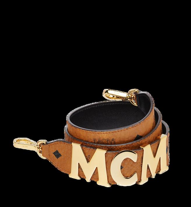 Schulterriemen mit MCM Schriftzug in Visetos