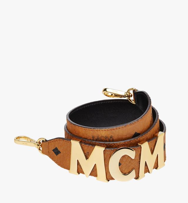 MCM Letter Shoulder Strap in Visetos