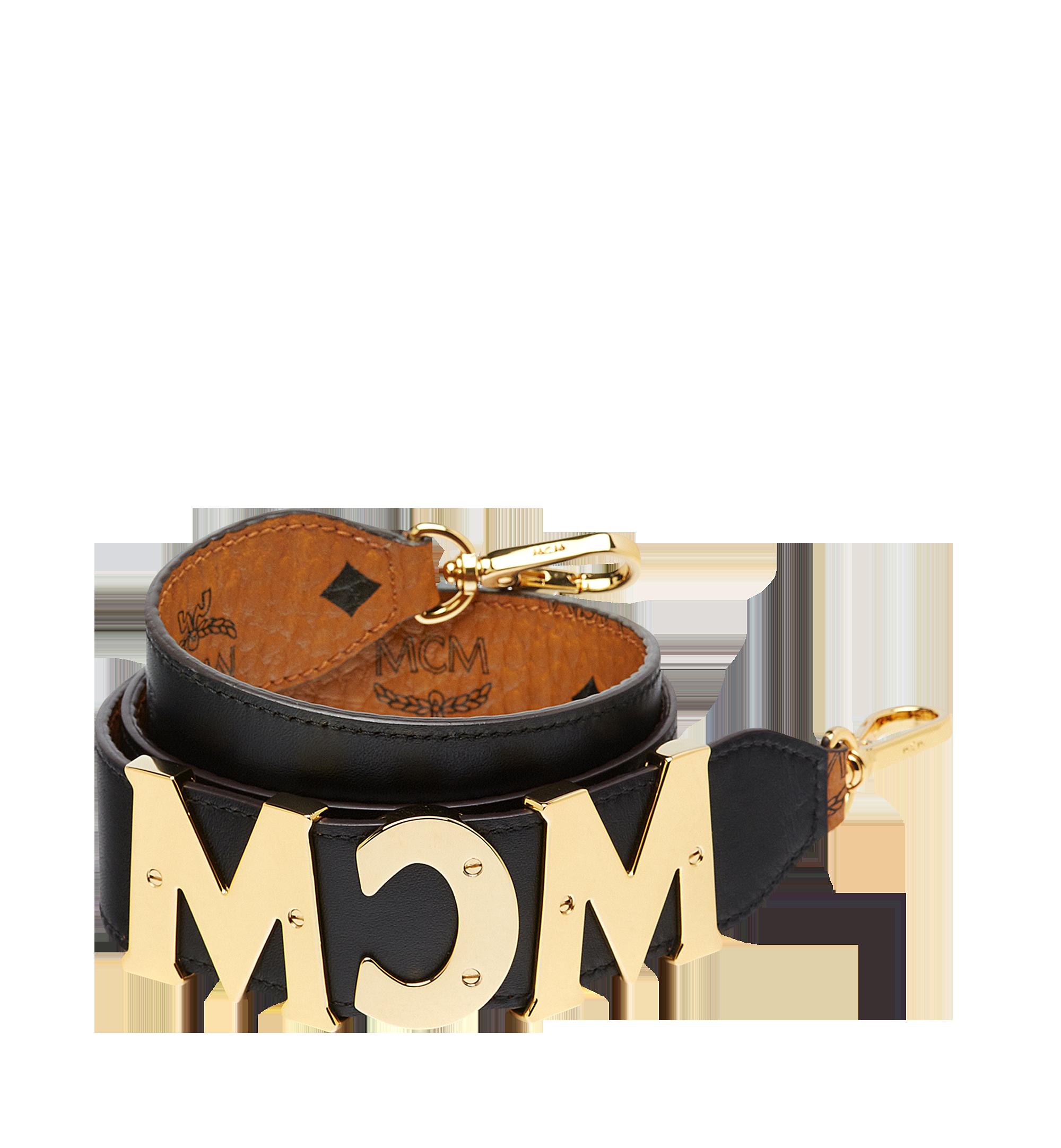 MCM Visetos MCM字母皮革肩带 Cognac MYZ8APA96CO001 更多视角 1