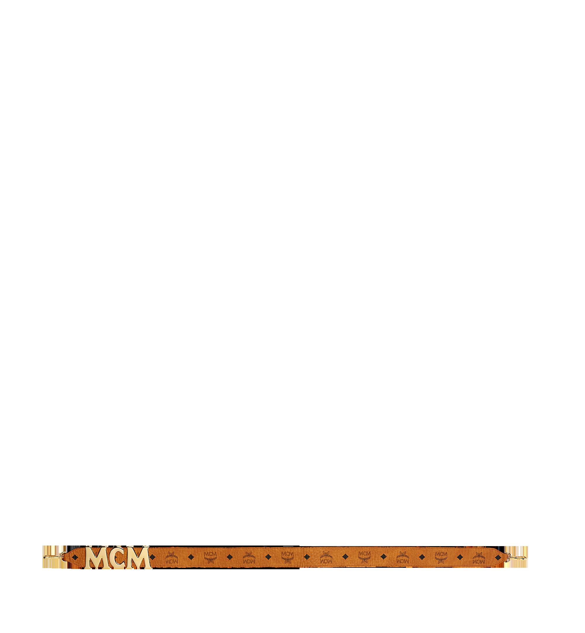 MCM Visetos MCM字母皮革肩带 Cognac MYZ8APA96CO001 更多视角 2