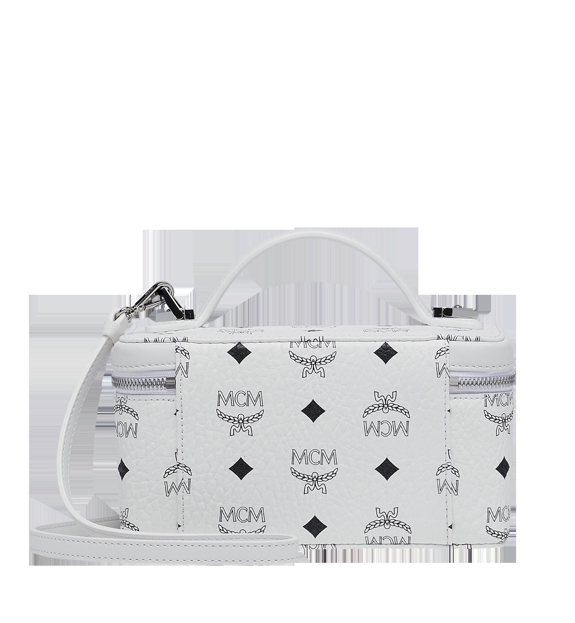 Mini Kosmetikkoffer Rockstar in Visetos Original White   MCM® DE
