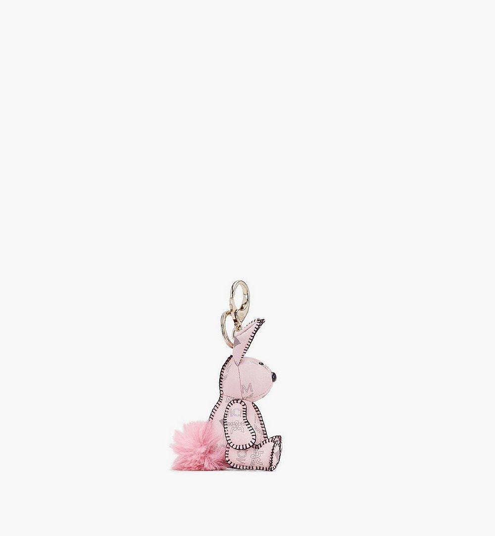 MCM MCM Zoo Rabbit Charm in Visetos Pink MYZ8AVI38QH001 Alternate View 1