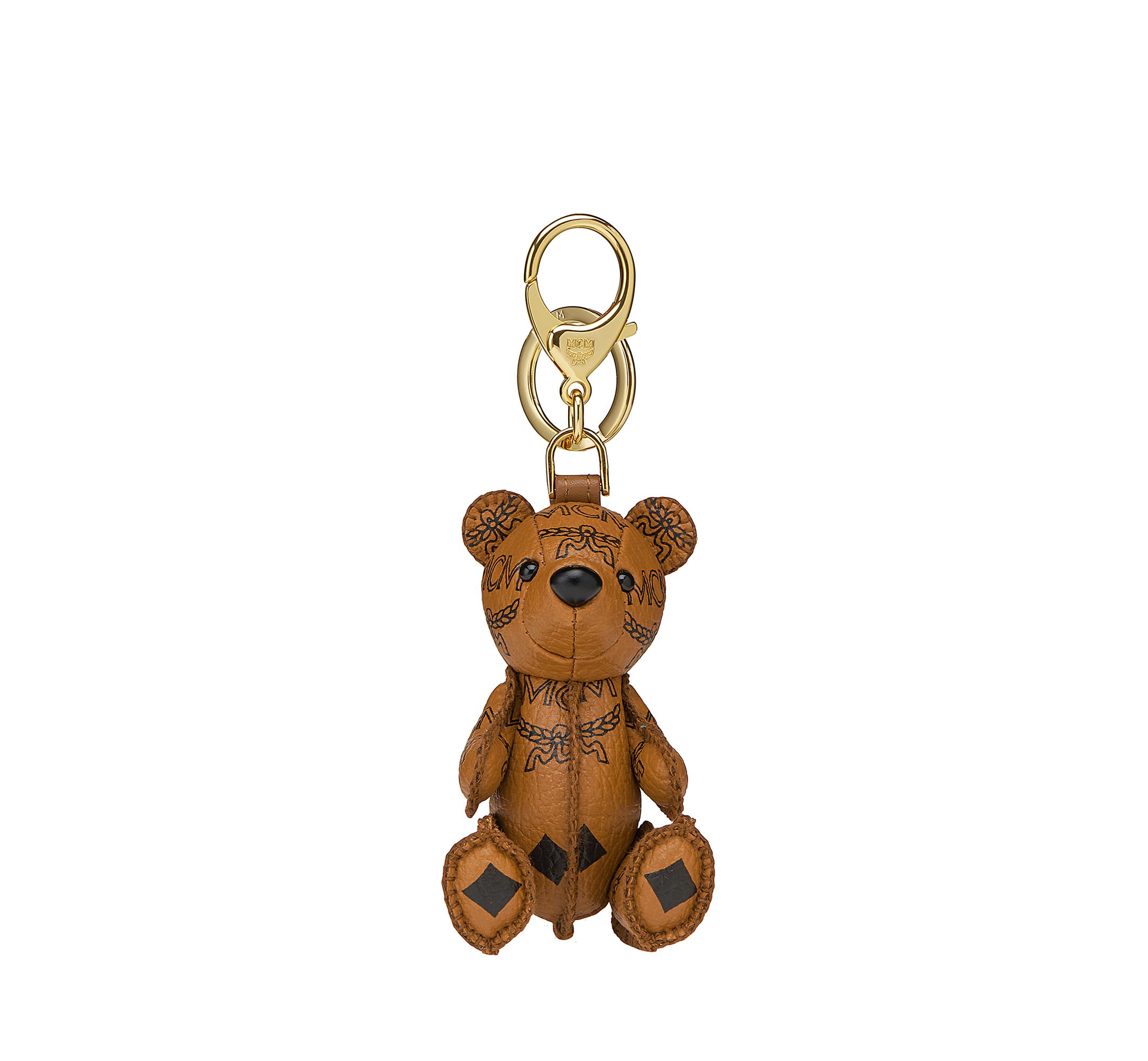 MCM MCM Zoo Bear Charm in Visetos Cognac MYZ8AXL06CO001 Alternate View 1