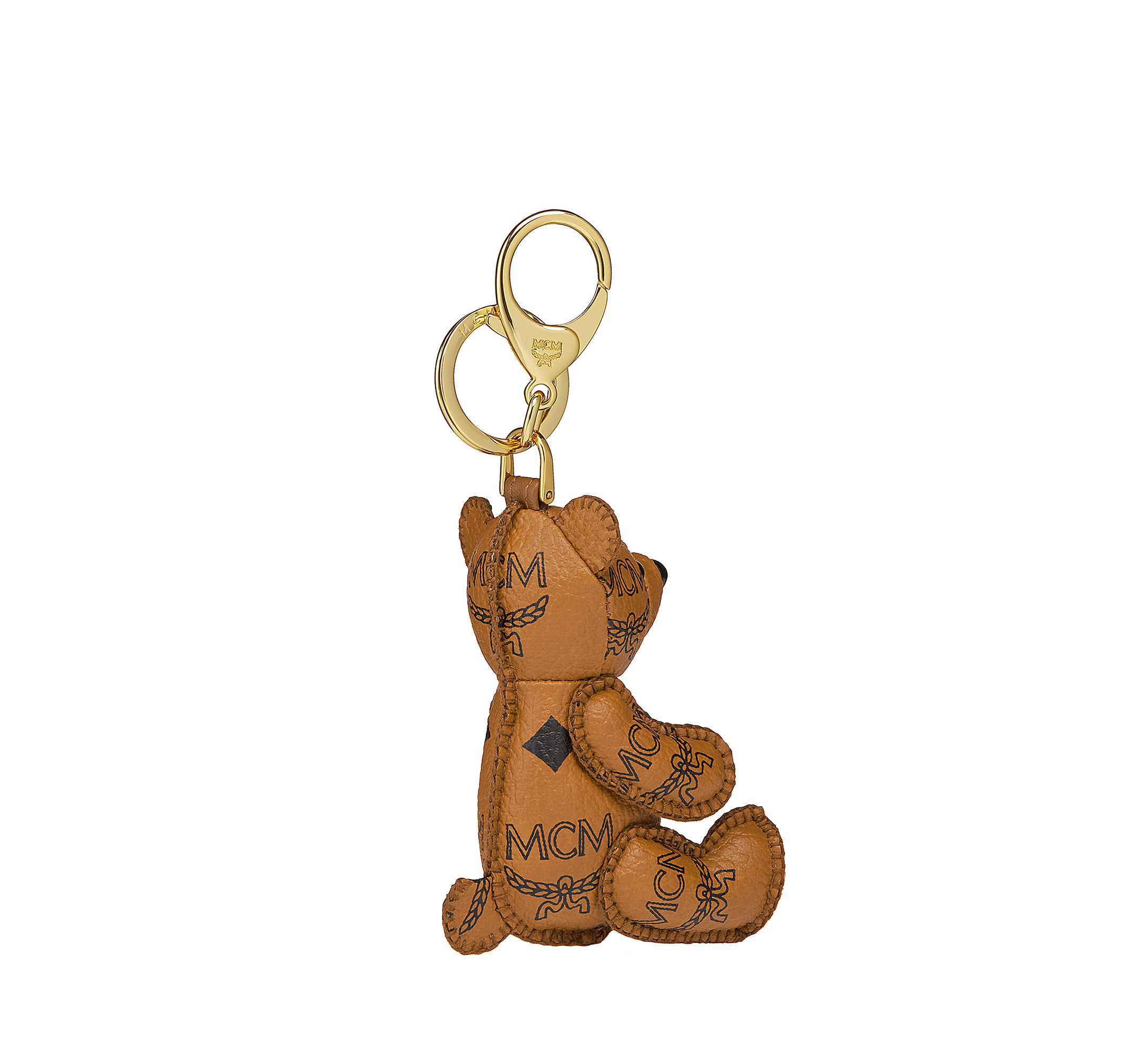 MCM MCM Visetos 可愛小熊鑰匙圈 Cognac MYZ8AXL06CO001 更多視圖 1