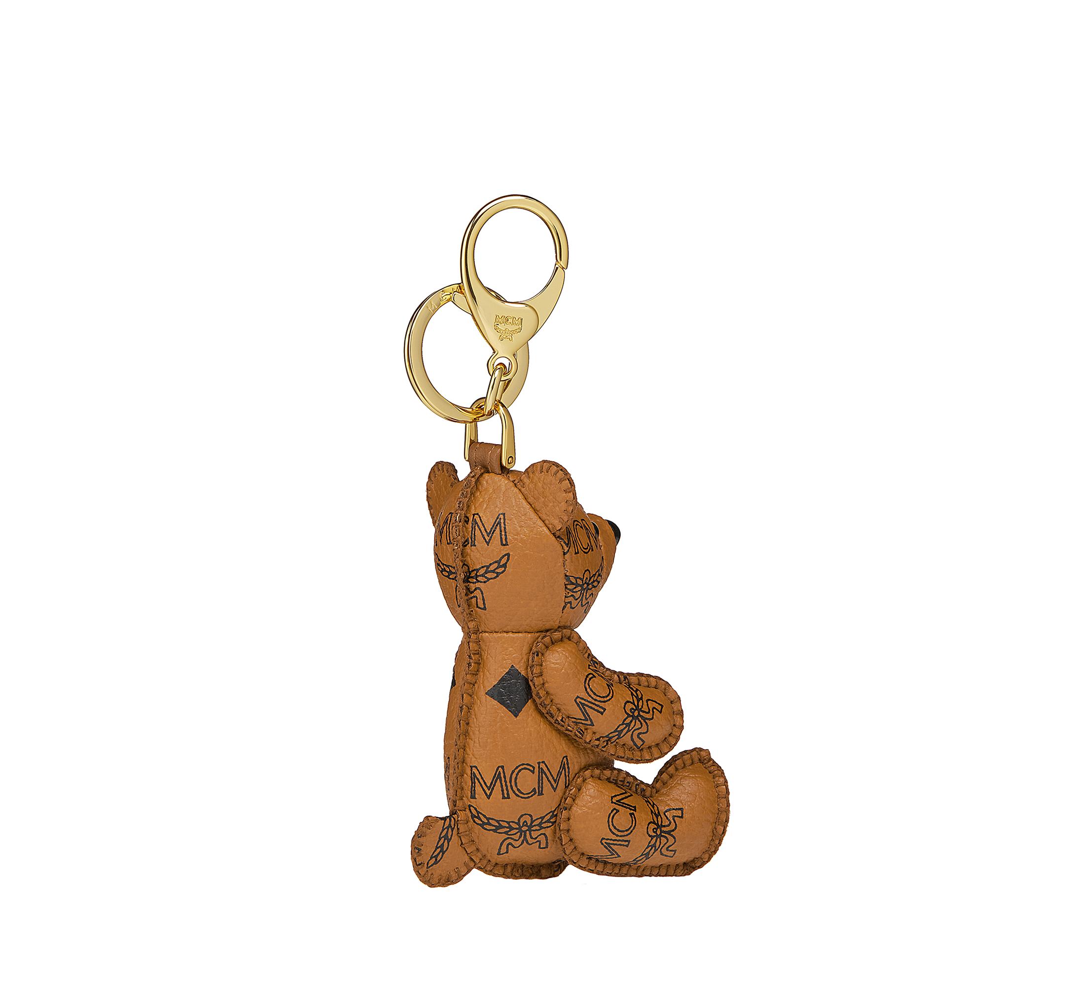 MCM MCM Zoo Bear Charm in Visetos Cognac MYZ8AXL06CO001 Alternate View 2