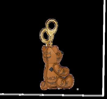 MCM MCM Zoo Bear Charm in Visetos MYZ8AXL06CO001 AlternateView2