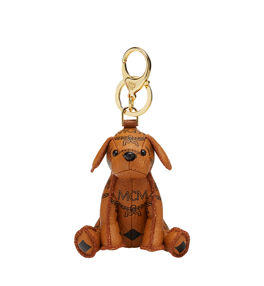 MCM MCM Zoo Dog Charm in Visetos Cognac MYZ8AXL08CO001 Alternate View 1