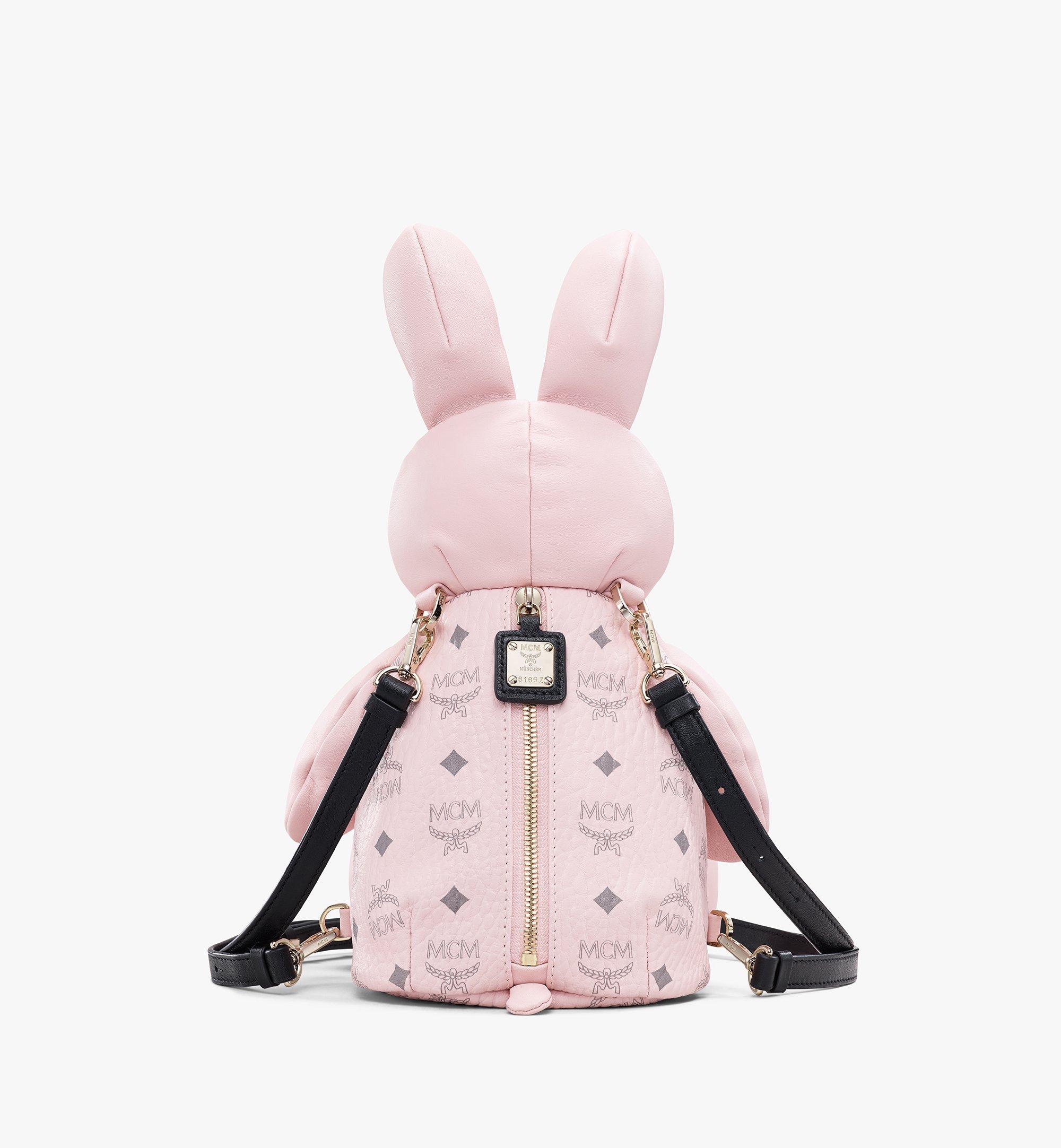 MCM Visetos 皮革 MCM Zoo Rabbit 背包 Pink MYZ8AXL17QH001 更多視圖 2