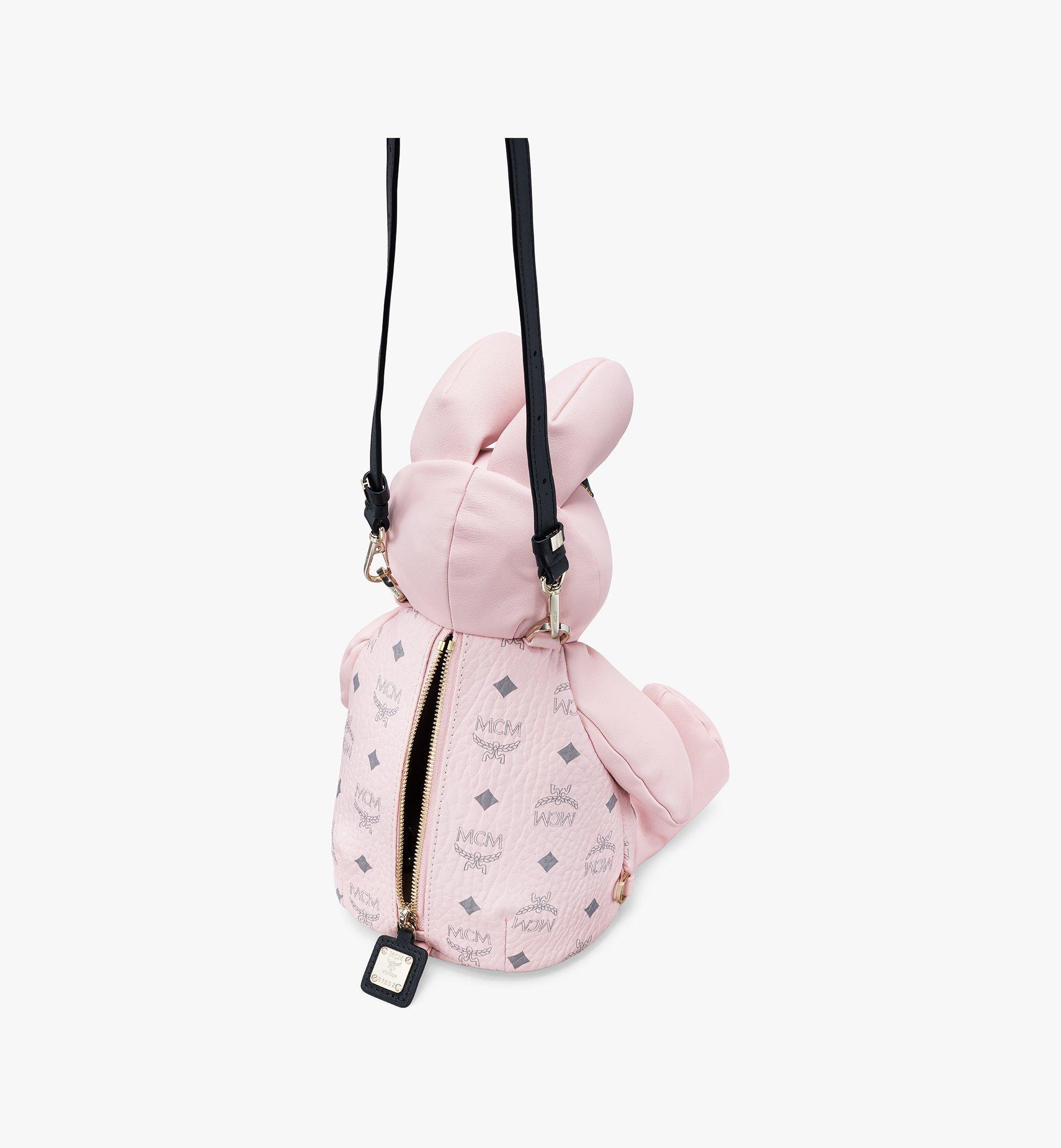 MCM Visetos 皮革 MCM Zoo Rabbit 背包 Pink MYZ8AXL17QH001 更多視圖 3