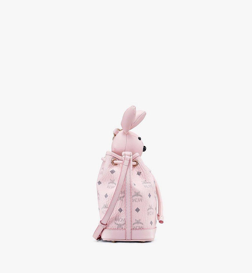 MCM MCM Zoo Rabbit Drawstring Bag in Visetos Pink MYZ8AXL45QH001 Alternate View 1