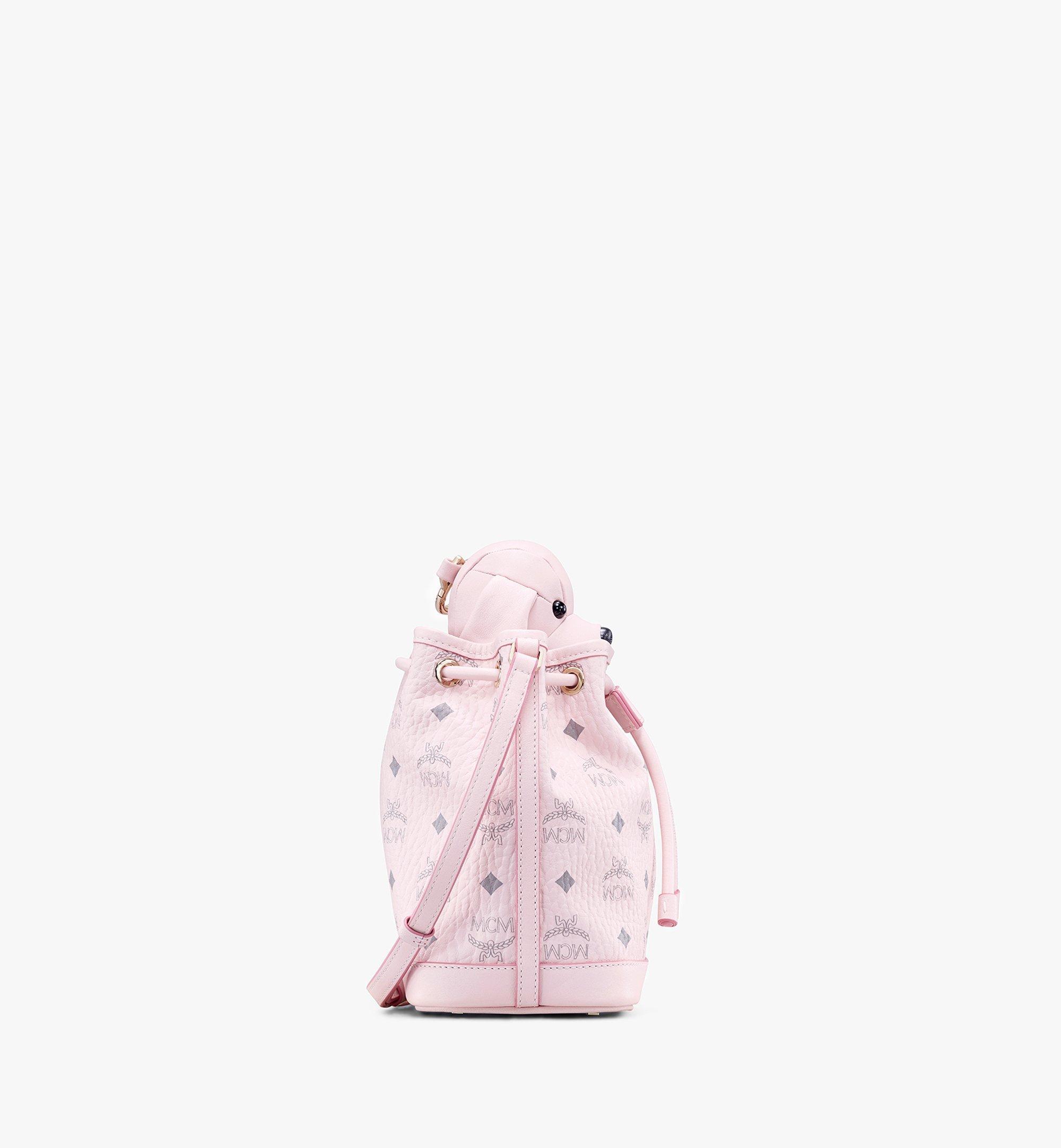 MCM Visetos 皮革 MCM Zoo Dog 束口包 Pink MYZ8AXL46QH001 更多視圖 1