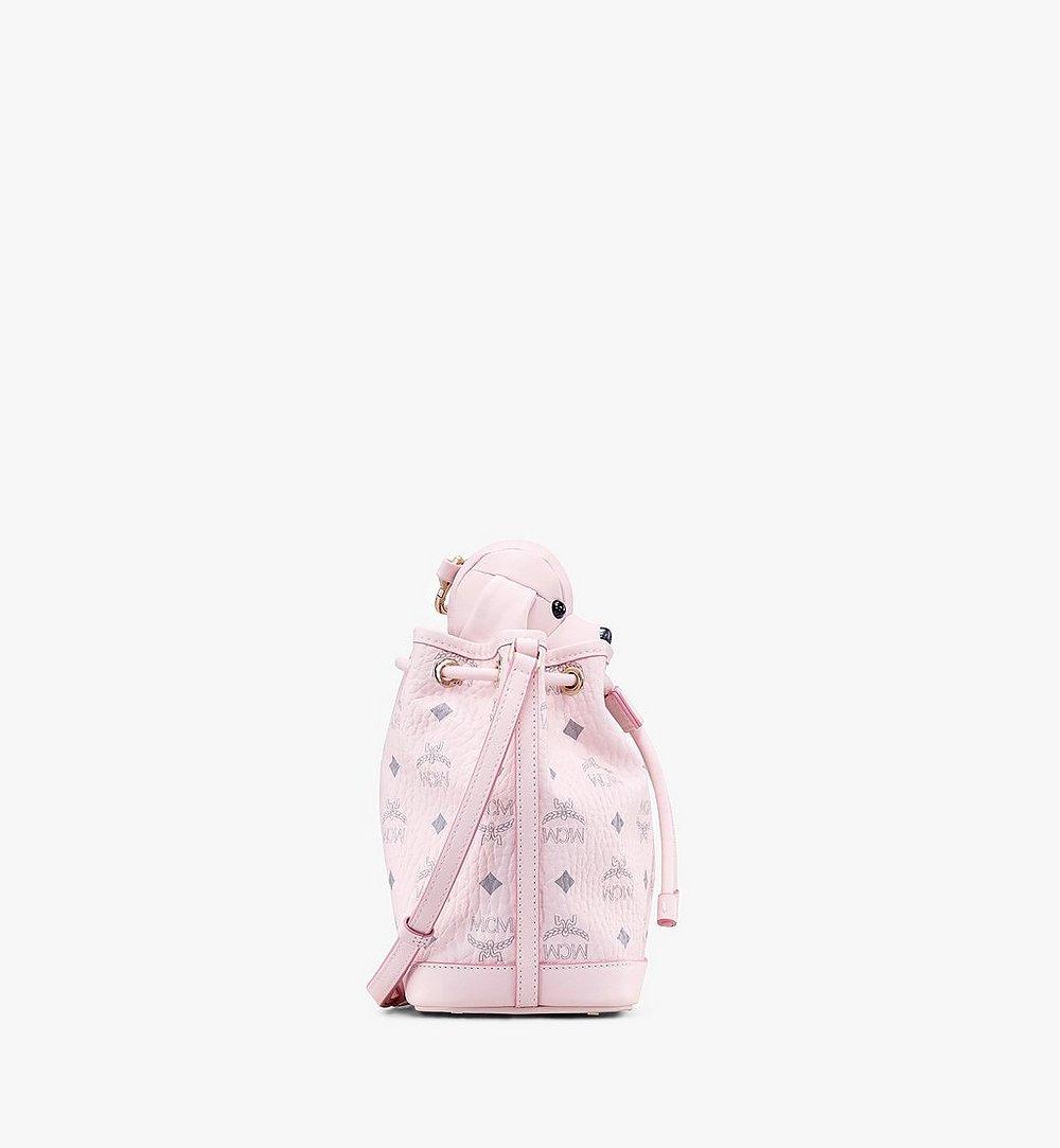 MCM MCM Zoo Dog Drawstring Bag in Visetos Pink MYZ8AXL46QH001 Alternate View 1