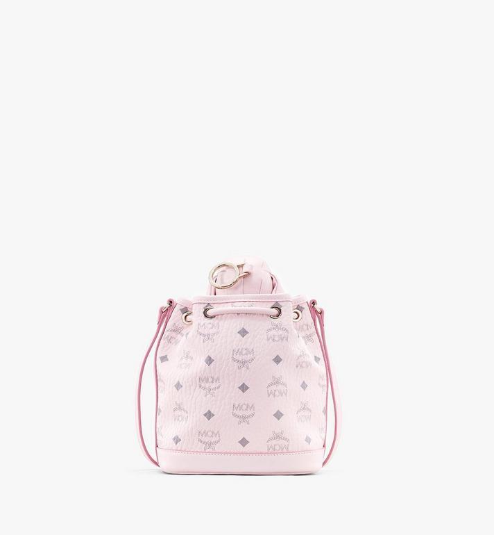 MCM MCM Zoo Dog Drawstring Bag in Visetos Pink MYZ8AXL46QH001 Alternate View 3