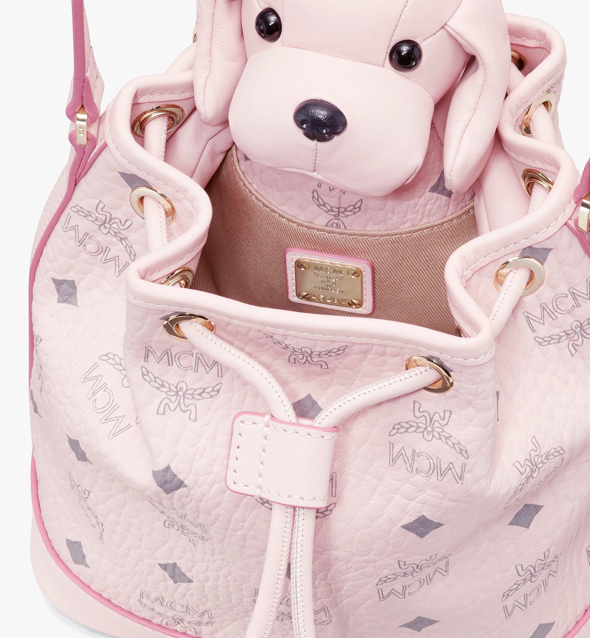 MCM Visetos 皮革 MCM Zoo Dog 束口包 Pink MYZ8AXL46QH001 更多視圖 3