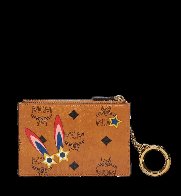 MCM Star Eyed Bunny Keycase in Visetos AlternateView3